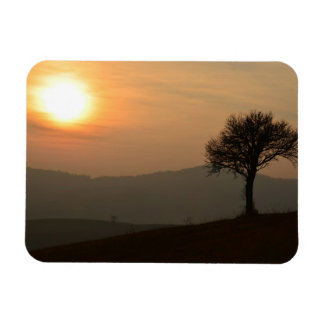 Sunset At The Countryside Rectangular Photo Magnet