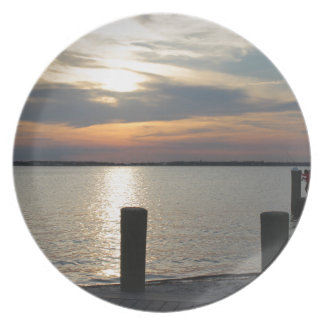 Sunset at the dock plates