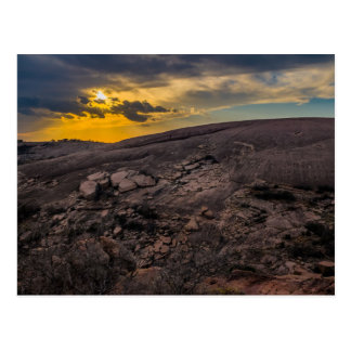 Sunset at the Enchanted Rock Postcard