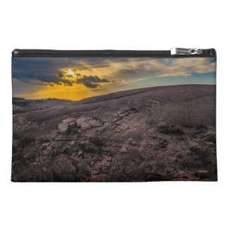 Sunset at the Enchanted Rock Travel Accessory Bags