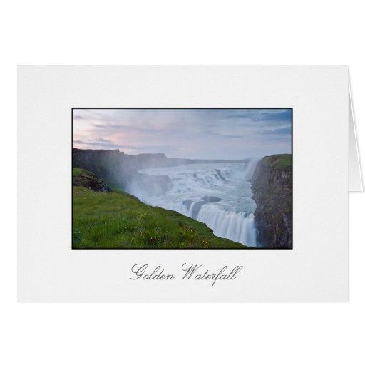 Sunset at the Golden Waterfall (Gullfoss) Card