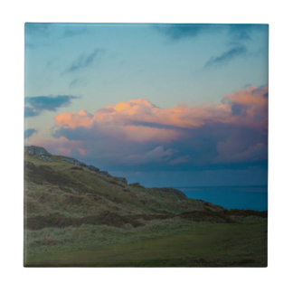 Sunset at the Great Orme Ceramic Tile