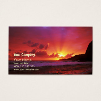 Sunset at the island business card