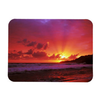 Sunset at the island magnets