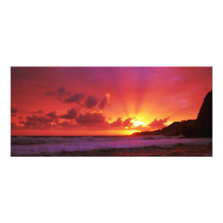 Sunset at the island rack cards
