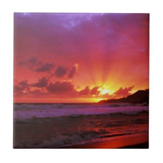 Sunset at the island tile