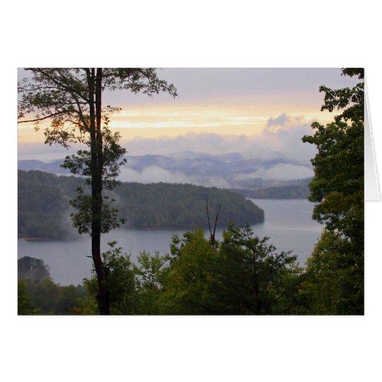 Sunset at the Lake Card