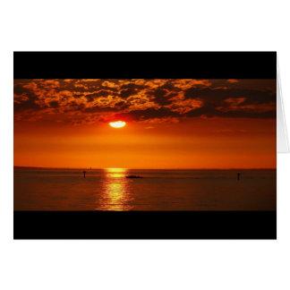 Sunset at the lake - card