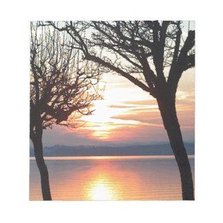 Sunset at the lake note pads