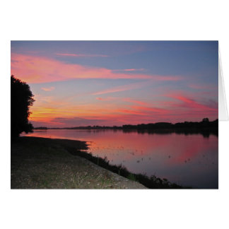 Sunset at the Loire Greeting Card