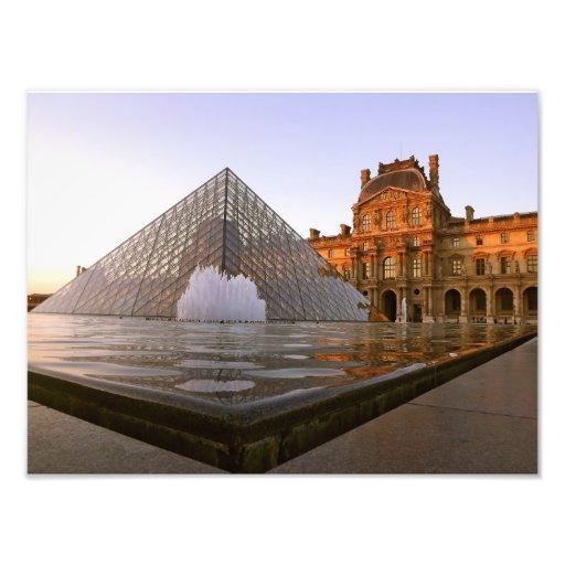 Sunset at the Louvre Museum, Paris, France Photograph