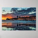 Sunset at the Oceanside Pier Poster