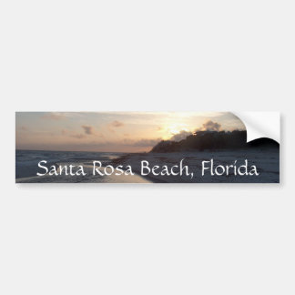 Sunset at the pass, Santa Rosa Beach, Florida Bumper Sticker