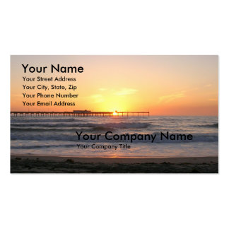 Sunset at the Pier Business Card Template