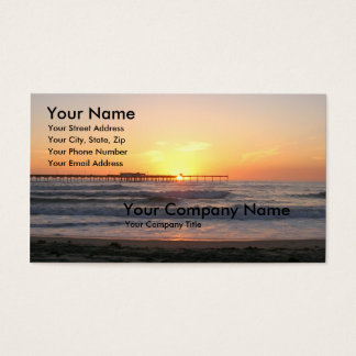 Sunset at the Pier Business Card