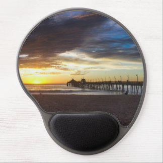 Sunset at the Pier Gel Mouse Pad