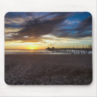 Sunset at the Pier Mouse Pad