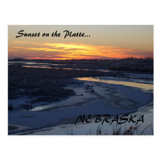 Sunset at the Platte Postcard