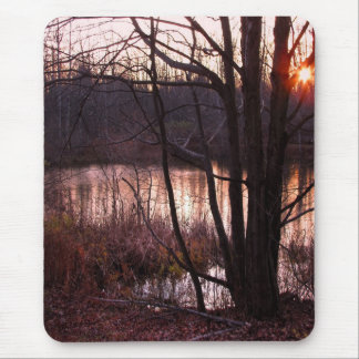 Sunset at the Pond Mouse Pad