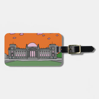 Sunset at the Reichstag building in Berlin Bag Tag