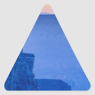 Sunset At The South Rim Of The Grand Canyon Triangle Sticker