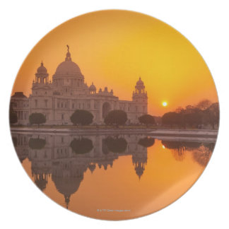 Sunset at the Victoria Memorial Dinner Plate