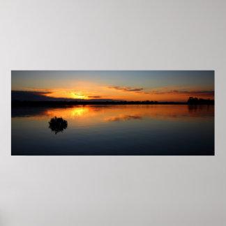 Sunset at Tooradin Print