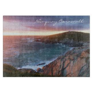 Sunset at Towan Head Newquay Cornwall England Cutting Board