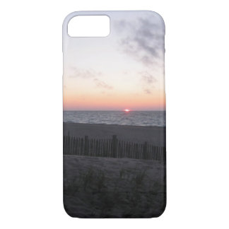 sunset at two-hearted lake, Michigan i phone case