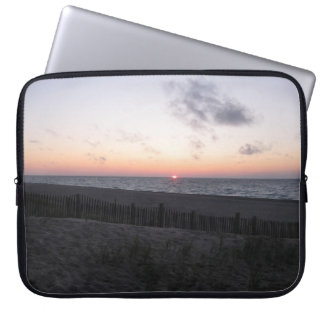 sunset at two-hearted lake, Michigan laptop case