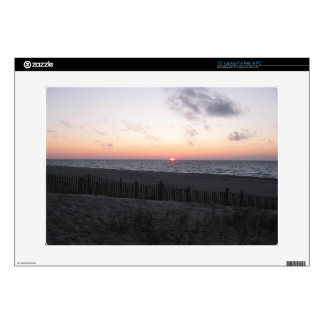 sunset at two-hearted lake, Michigan laptop skin