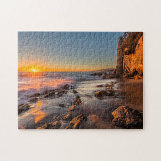 Sunset at Victoria Beach Jigsaw Puzzle