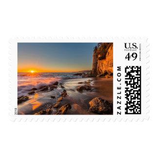 Sunset at Victoria Beach Postage Stamp