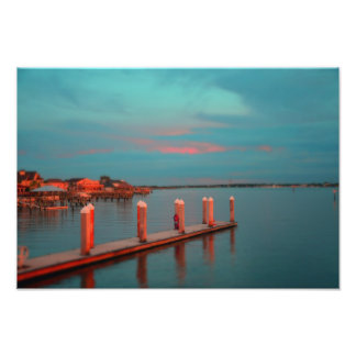 Sunset at Vilano Beach Pier Photo
