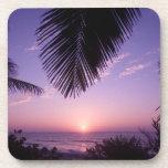 Sunset at West End, Cayman Brac, Cayman Islands, Beverage Coaster