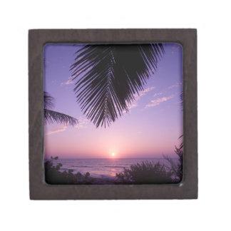 Sunset at West End, Cayman Brac, Cayman Islands, Jewelry Box