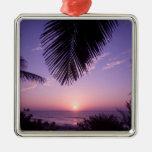 Sunset at West End, Cayman Brac, Cayman Islands, Christmas Tree Ornaments