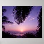 Sunset at West End, Cayman Brac, Cayman Islands, Poster