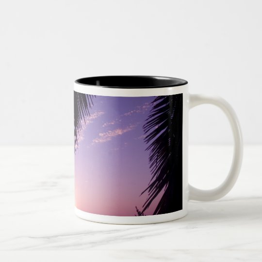Sunset at West End, Cayman Brac, Cayman Islands, Two-Tone Coffee Mug