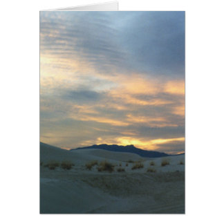 Sunset at White Sands Card
