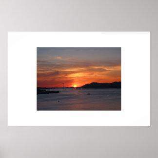 Sunset at Yerba Buena Island Poster