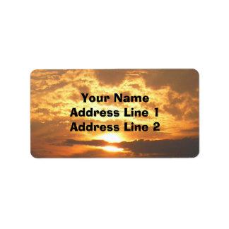 Sunset Avery Address Label