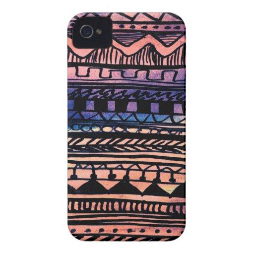 Sunset Aztec Pattern Case-Mate Blackberry Case