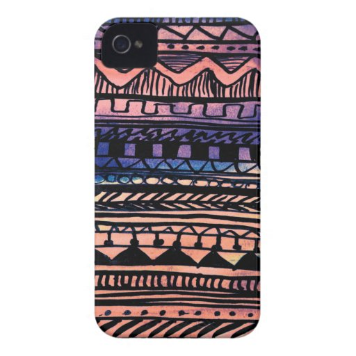 Sunset Aztec Pattern iPhone 4 Covers