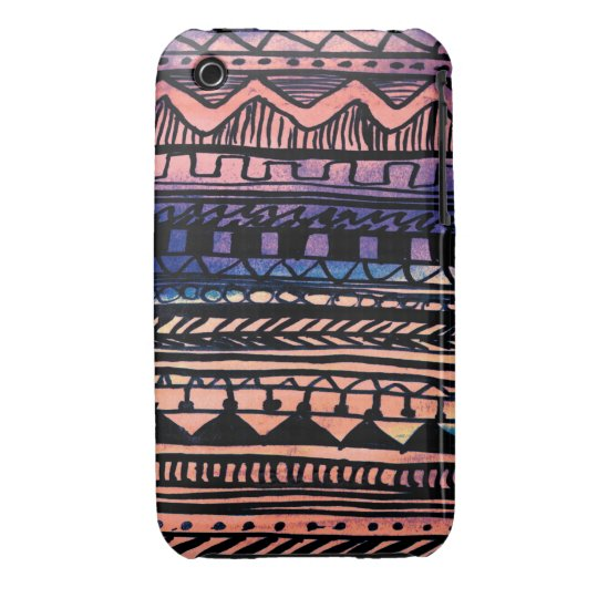 Sunset Aztec Pattern iPhone 3 Cover