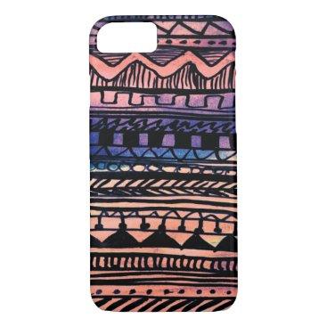 Aztec Themed Sunset Aztec Pattern iPhone 8/7 Case