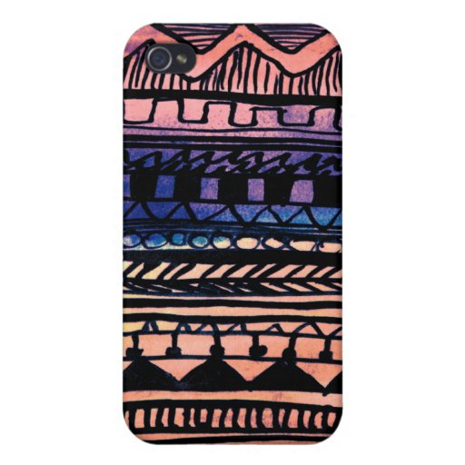 Sunset Aztec Pattern iPhone 4/4S Covers