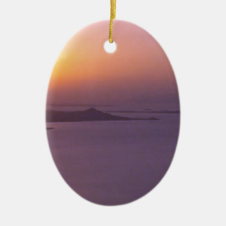 SUNSET background  add NAME  QUOTE PHOTO Ceramic Ornament
