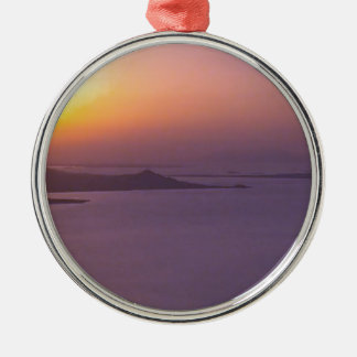 SUNSET background  add NAME  QUOTE PHOTO Metal Ornament
