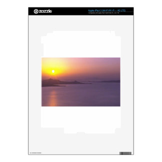 SUNSET background  add NAME  QUOTE PHOTO Skins For iPad 3